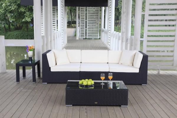 Bellaria Rattan Lounge schwarz