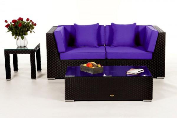 Sunrise Rattan Lounge Überzugsset violett