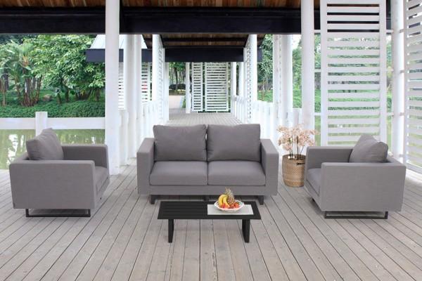 Jersey Allwetter Lounge grau