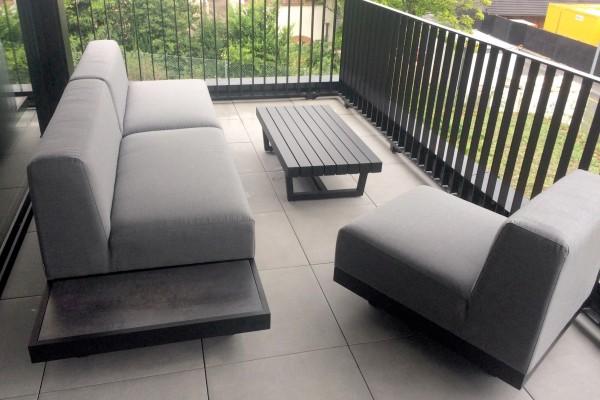 Windsor 3er Outdoor Lounge grau