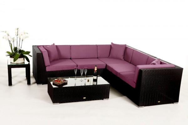 Shangrila Rattan Lounge - Überzugsset lila