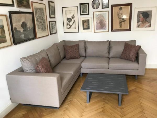 Melody Deluxe Sunbrella Fabric Lounge sandbraun