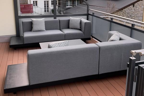 Memphis Outdoor Sofa rechts grau