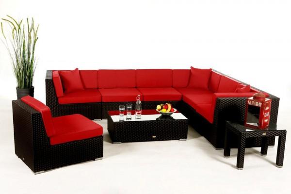 Bermuda Lounge Überzugsset rot