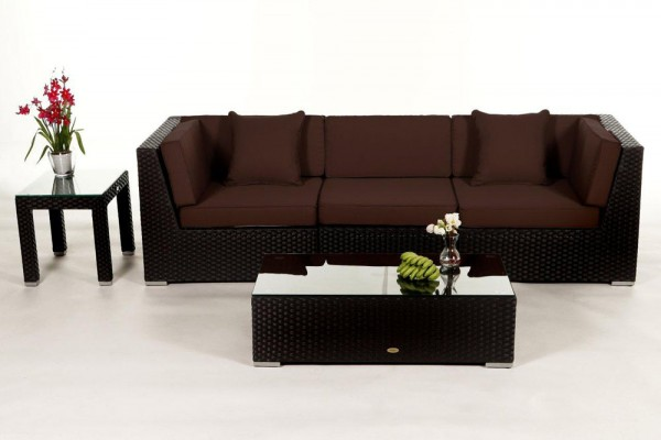 Bellaria Rattan Lounge - Überzugsset braun