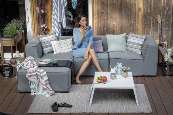Emma Outdoor Lounge Sunbrella Fabric grau