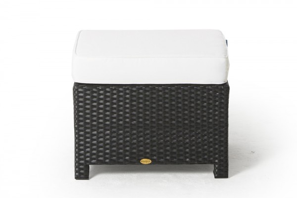 Luxury Rattan Hocker schwarz