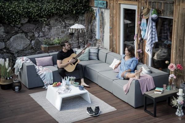 Mila Garten Lounge grau