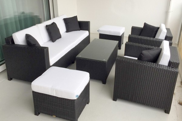 Luxury Lounge 3er schwarz