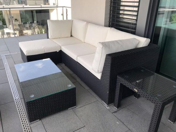Melrose Geflecht Lounge schwarz