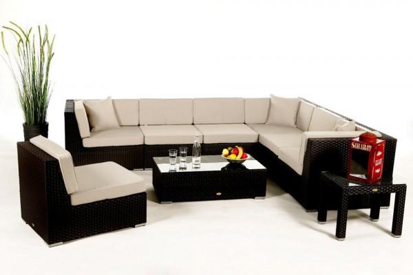 Bermuda Lounge Überzugsset beige