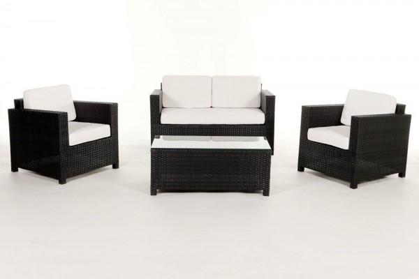 Luxury Rattan Lounge Überzugsset beige