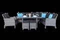 Rattan Sitzgruppe mit Tisch